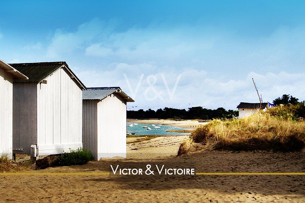 Noirmoutier accès plage des Sableaux cabanes voiliers au mouillage appartement maison neuf Victor & Victoire immobilier Real Estate agency