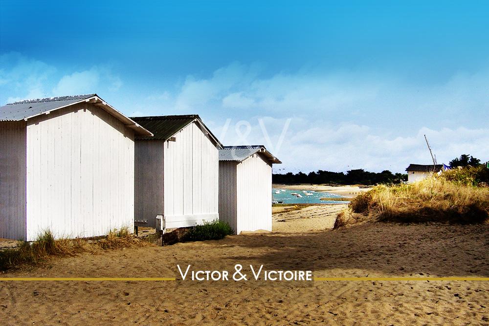 Noirmoutier plage cabanes voiliers Vendée 85 Nantes Paris vente appartement Victor & Victoire Immobilier Real Estate agency