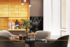 appartement T3 Nantes Procé cuisine murale et coin repas accès terrasse Agence immobilière Victor & Victoire Real estate agency