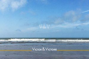 côte de Lumière océan vert sombre ciel bleu Victor & Victoire immobilier Real estate agency