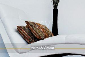 Nantes Nord appartement T5 bain de soleil design coussins vase haut Victor & Victoire immobilier Real estate agency