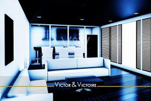 Paris 15e apparterment T2salon 2 canapés angle cuisine atelier spotsVictor & Victoire Immobilier Real estate agency