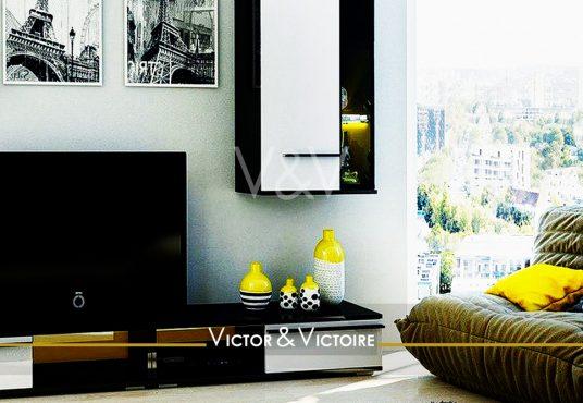 appartement T5 Nantes Nord salon home cinéma appartement ville vue hauteur Victor & Victoire immobilier Real estate agency