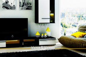 Paris 15 appartement T3 salon canapé étage appartement avec baie et vue ville Agence immobilière Victor & Victoire-real estate agency