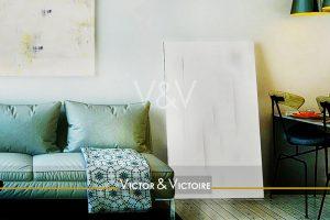 appartement t2 nantes universités erdre facultés salon atelier peinture canapé bar Victor & Victoire immobilier Real estate agency