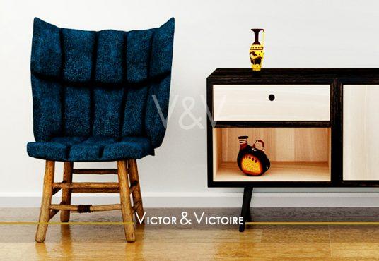 Nantes Nord Paris 15e appartement T3 entrée parquet fauteuil meuble bas appartement Victor & Victoire immobilier Real estate agency