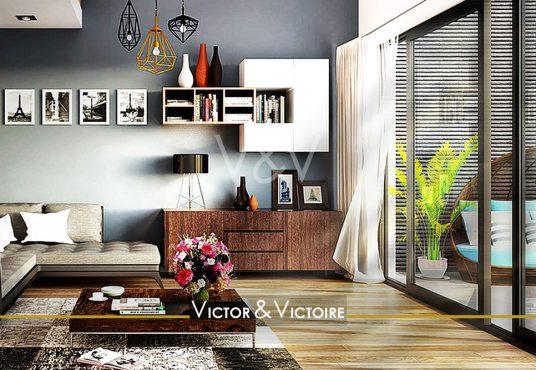 appartement T3 Paris 15ème fleurs rouge bordées de jaune que butinent des abeilles Agence immobilière Victor & Victoire Real estate agency