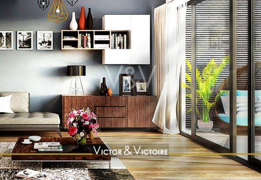 Appartement T4 Nantes Erdre nord Procé salon ouvert sur terrasse agence immobilière Victor & Victoire Real estate agency