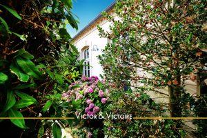 fenêtre au travers d'une végétation luxuriante maison 4 chambres bord de mer avec piscine-saintgillescroixdevie Agence immobilière Victor-Victoire immobilier fengshui real estate agency
