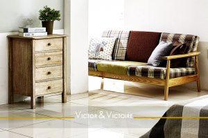 chambre salon chevet banquette lumineux Agence immobilière Victor & Victoire, Real estate agency
