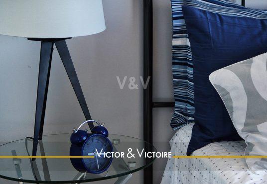 chambre lampe chevet marine bord de mer appartement t2 sables olonne vendée Agence immobilière Victor & Victoire, Real estate agency