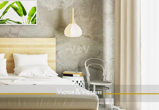 lit king size chambre lumineuse appartement Paris Agence immobilière Victor & Victoire, Real estate agency