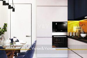 cuisine ouverte table repas séjour appartement vente Paris Nantes côte atlantique.. Agence immobilière Victor & Victoire, Real estate agency