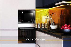 cuisine L blanc vente appartement T2 t3 Paris 19 18 Agence immobilière Victor & Victoire Real estate agency