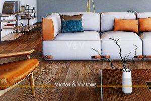 canapé blanc séjour appartement T2 Sables Olonne agence-immobilière-victor-victoire-real-estate-agency