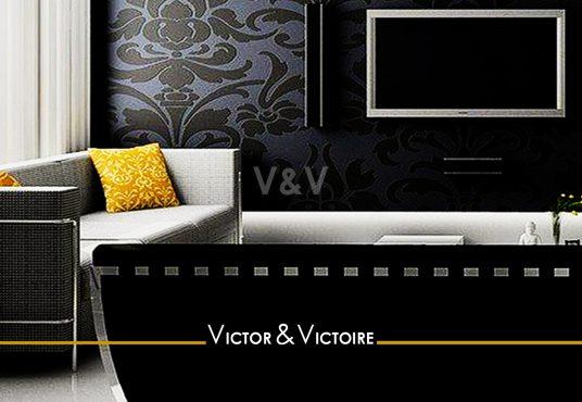 séjour noir baie vente appartement T3 vente Paris 75019 Nantes côte atlantique. Agence immobilière Victor & Victoire, Real estate agency