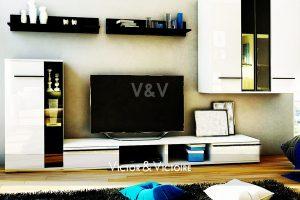 mural meuble séjour cuisine appartement vente Paris 19eme 75018 agence-immobilière-victor-victoire-real-estate-agency