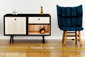 meuble entrée fauteuil bord de mer appartement Sables Olonne agence-immobilière-victor-victoire-real-estate-agency