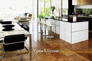 séjour cuisine terrasse jardin appartement t2 Sables Olonne agence-immobilière-victor-victoire-real-estate-agency
