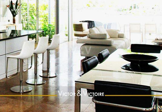 séjour cuisine jardin appartement T2 T3 Sables Olonne agence-immobilière-victor-victoire-real-estate-agency