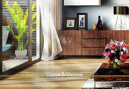 séjour terrasse jardin appartement T2 T3 Sables d'Olonne Agence immobilière Victor & Victoire, Real estate agency.
