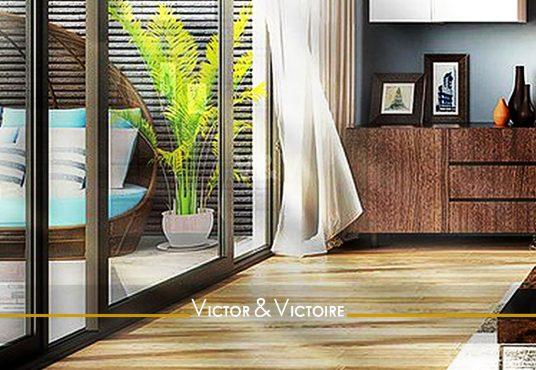 salon séjour accès terrasse appartement T5 Paris 15e Agence immobilière Victor & Victoire, Real estate agency