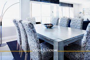 séjour bord de mer blanc bleu appartement T3 jardin maison Sables Olonne Agence immobilière Victor & Victoire, Real estate agency